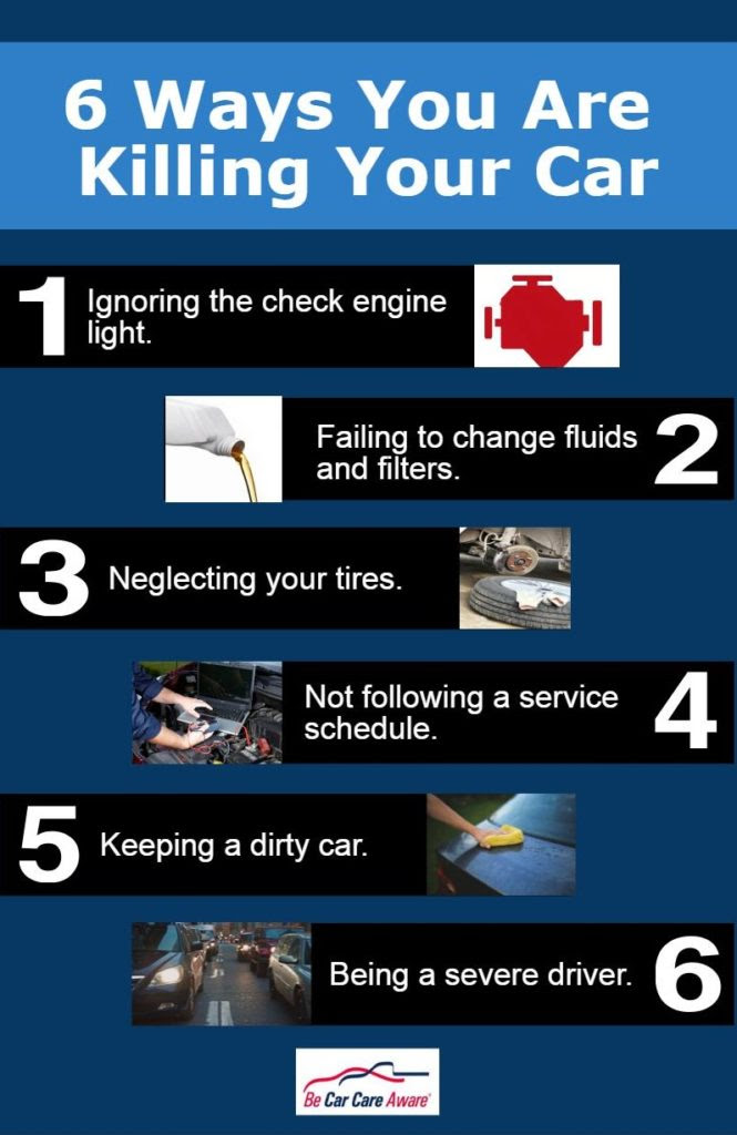 6 Ways You Are Killing Your Car!